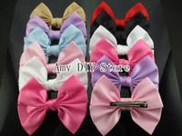 Hair Accessories baby bow ornaments - 4 princess ribbon bows korean Hair bows WITH clips for hair Baby Hair accessories for girls hairpins hair ornaments HJ007 cm