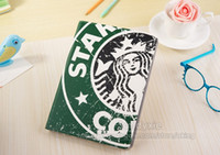 20pcs Starbucks Pattern case for iPad Air iPad 5, PU Leather...