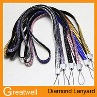Wholesale Bling Crystal Rhinestone wrist lanyard strap For Mobile Phone MP3 MP4 Camera Games