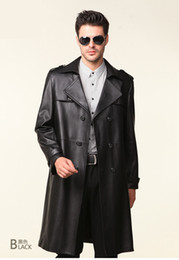 Wholesale 2013 new leather trench coat