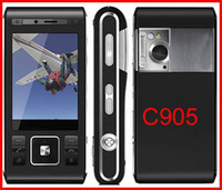 Wholesale Full set original c905 cell phones G WIFI GPS Quan band bluetooth with multi language