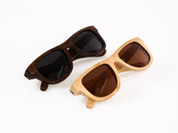 Wholesale 100 handmade natural bamboo sunglasses polarized eyeglasses wooden wayfarer sunglasses Mixing colors accept