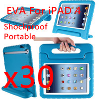 For Apple best green ipad case - Baby Safe Portable Shockproof Case For quot Apple ipad EVA Foam Handle Stand Best Qualtiy Soft Handle DHL free colors