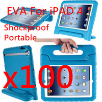 9.7'' best ipad case stand - Baby Safe EVA Foam Handle Stand Case For ipad Portable Shockproof Best Qualtiy Soft Handle DHL free colors black MOQ