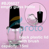 Wholesale Freeshipping x ml Empty Glass Bottles Nail Polish Refillable Bottles with Lid and Brush SKU F0014XX