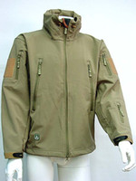 Wholesale Stealth Hoodie Shark Skin Soft Shell Waterproof Jacket Camping Hiking Jackets Tan OD Multi Camo