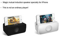 Wholesale Induction Mini Speaker Amplifies Audio Sound Box for Apple iPhone S S Wireless Mini Beatbox Speaker in stock