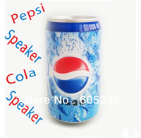 Wholesale 50pcs free fedex Protable mini usb speaker cola speaker pepsi can speaker
