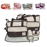 Wholesale S5Q Baby Changing Diaper Nappy Bag Mummy Mother Handbag multifunctional set AAACQE