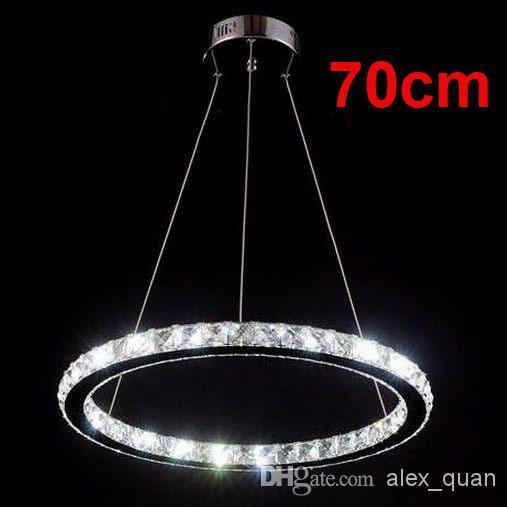 70cm led suspension hanging light lustre crystal. Black Bedroom Furniture Sets. Home Design Ideas