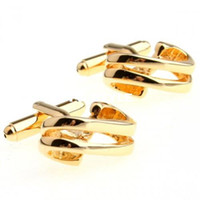 Wholesale 9ct gold cufflinks Fun styles gold engraved cufflinksman s copper and white steel