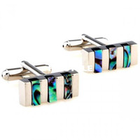 Wholesale 9ct gold cufflinks The Novelty Rectangular Cufflinksman s copper and white steel