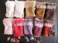 Wholesale High quality Women winter fingerless rabbit fur gloves hand wrist keyboard glove half fingers snow gloves