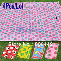 100% Polypropylene Cotton Column 4Pcs Lot Waterproof 180x160cm Kids Play Mat Game Blanket Baby Crawling Pad Outdoor Camping Beach Mat Picnic Mat 17167 B_146