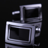 Wholesale Black carbon fiber cufflinks nail sleeve shirt sleeve button cuff