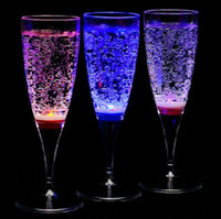 Wholesale Led luminous wine glass led champagne cup water goblet champagne glass bar supplies ml