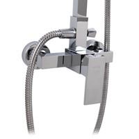 Wholesale Luxury square shower set bathroom shower copper shower nozzle