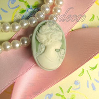 Wholesale 20PCS Baby Green Victorian Cameo Lady Wedding Party Favor Favour Decorations Unique Wedding Favors DIY Craft Supplies