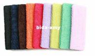Wholesale color available fashion elastic terry headbands sport headbands sweatband