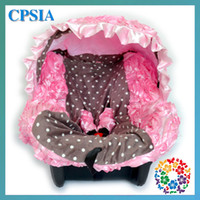 Car seat covers purple car seat covers - 3D Roses Baby Wedding pink polka infant car seat covers canopy cover fit most seat set have sets