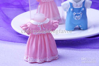 Wholesale New arrival and Baby shower girl amp boy clothes candles pink amp blue