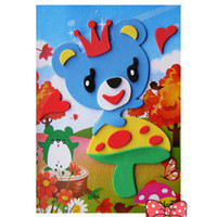Wholesale by EMS Educational Toy Crown Bear D Sticker Puzzle Toy EVA