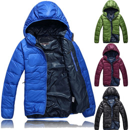 Wholesale S5Q Outdoor Winter Warm Mens Down Jackets Feather Rong Winter Coat AAACQK