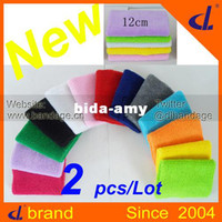 Wholesale New mix color cm cm Brand cotton Sports Wristband Wrist Support Protector Sweatband Basketball Tennis Badminton
