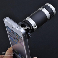 Wholesale New X Zoom Telescope Camera Cameras Lens Case Cases Cover For Apple iPhone5 iPhone G Free DHL UPS FEDEX Shipping