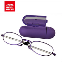Wholesale Itisf4 folding reading glasses ultra light reading glasses female quality anti fatigue