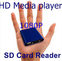 Wholesale MINI Full HD P USB External HDD Media player With SD MMC card reader HOST OTG support MKV H RMVB DVD MPEG
