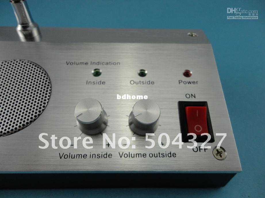 Wholesale - Free shipping 110V / 220V Bank Non-visual Window Doorbell Intercom Interphone System