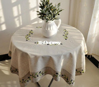 Wholesale X130CM Olive Branch Embroidery Tablecloths XG