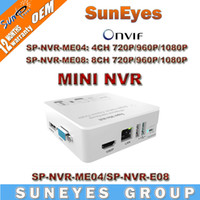 Wholesale SunEyes Smallest Super MINI NVR for P P HD IP Camera ONVIF HD Network Video Recorder with HDMI SP NVR ME04 SP NVR ME08