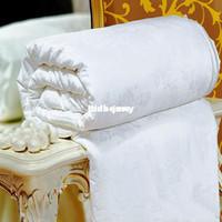 Children Cotton King Wholesale - Quilted Bedspreads Summer Silk Quilt Handmade 100% Pure Mulberry silk quilt Duvet Comforter Queen King Quilted Cotton Bedspread