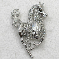 Wholesale C848 A Clear Crystal Rhinestone Running Horse Pin Brooch amp Pendant jewelry gift