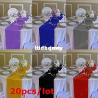 Wholesale cmX cm pieces Satin Table Runner Wedding Decoration colors