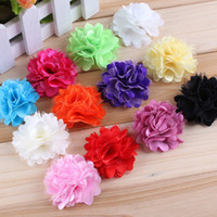 Hair Sticks Lace Floral 3.5CM Lace Flower Accessories For Baby Headbands DIY Hair Jewelry 12Colors To Choose 100PCS LOT Free Shipping