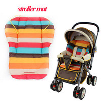 Wholesale New baby strollers mat for winter waterproof cotton baby car pad seat cushion rainbow striped accessories of strollers