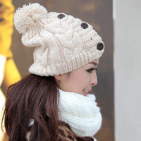 Wholesale Free Shiping Fashion Women Winter Knit Crochet Christmas Outdoor Hat Ski Baggy Cap Beanie