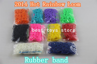 12-24M Multicolor Silicone Best-Toys Refill Rainbow loom rubber band blending or monochrome (600 rubber +24 S +1 hook)