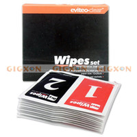 Wholesale DSLR Lens LCD Screen cleaning paper wipe set Wet amp Dry NW