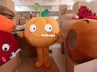 Wholesale Cartoon Clothing foam head plush pumpkin carnival costumes mascot costumes adult size1pcs good quality