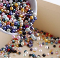 Wholesale Hot Sale Pretty X Multicolor Round Pearl Imitation Glass Beads mm