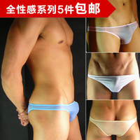 Wholesale cheap Men s Super Sexy Bikini Milk fiber Low rise underwear silky Brief Sale