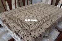 bamboo thread cloth - cotton thread handmade hook needle long dining table cloth tablecloth cm color beige