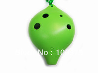 Wholesale 6 Hole Pendant Ocarina Instrument Flute Cheap Ocarinas for Sale kaufen Green