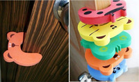 Wholesale 1000pcs New x Baby Safety Finger Pinch Guard Door Stopper Baby safety products gate card Animal model