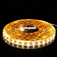 Wholesale Meters Feet Spool LEDs SMD3528 Non Water proof Flexible Ribbon LED Strip Warm White Light Home Decor
