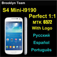 HDC i9195 - S4 Mini i9500 i9195 Dual core MTK6572 cell phone GHz Android Smartphone unlocked inch mp camera SIV S4